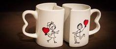 Resultado de imagen de tazas decoradas parejas