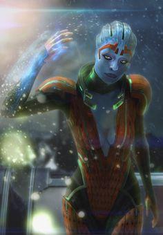 Mass Effect Characters byFlorian Guilbot - Samara