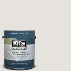 BEHR Premium Plus Ultra 1-Gal. #PPU18-8 Painter's White Satin Enamel Interior Paint