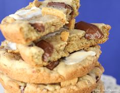 Giant S'mores Chocolate Chip Cookies