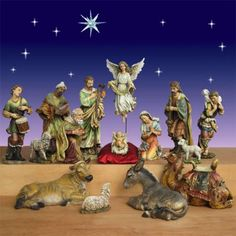 "Artisan Nativity from Joseph's Studio 27.5"" 15 Pc. $1,119.00  Complete Artisan Nativity scene with 15 pieces from Joseph's Studio. Dimensions: Tallest Figure  27.5"" Joseph   Weight 140 lbs.  Material Resin-stone mix  Indoor or Outdoor use http://www.christmasnightinc.com/Artisan-Nativity-from-Josephs-Studio-275-15-Pc-p1377.html#"