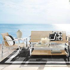 Pescadero Outdoor Club Chair Frame #williamssonoma 895