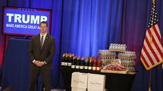 We are a country FULL OF SUCKERS.  Trump Water, a Trump magazine, Trump Steaks — all of that was on stage after the presidential candidate's wins in Michigan, Mississippi and Hawaii on Tuesday. BUT MUCH OF IT ISN'T ACTUALLY HIS..