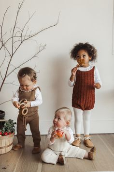 baby fall pom pom knit clothing line I Gender Neutral knit clothing I Perfect Holiday Outfit for Baby I Petite Coo Knitwear for Babies I Fall Picture Outfit Inspiration