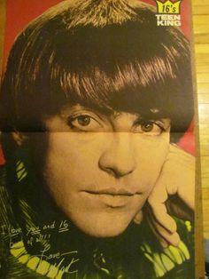 Paul Revere and the Raiders, Mark Lindsay, Two Page Vintage Centerfold Poster  On my wall as a teen