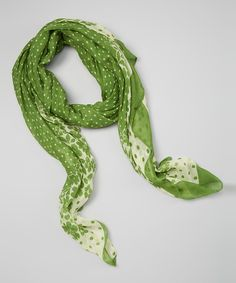 Another great find on #zulily! Green Floral Scarf by Owl Bee Mod #zulilyfinds