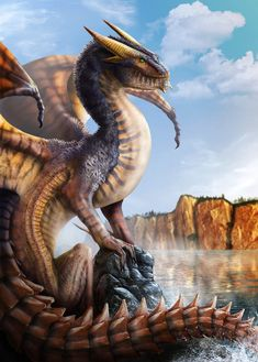 Dragon Photoshop Painting by franeres.deviantart.com on @DeviantArt