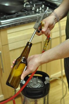 How to Bottle Your Homebrew From a Keg - http://www.totalhomebrewing.com/blog/how-to-bottle-your-homebrew-from-a-keg/