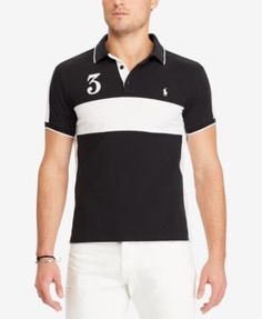 POLO RALPH LAUREN Polo Ralph Lauren Men'S Custom Slim Fit Cotton Mesh Polo. #poloralphlauren #cloth # polos