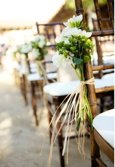 just enough to add a little interest, but not detract from the view, these pew arrangements would look great at The Gazebo at Silvertip Resort