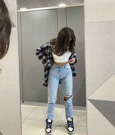 Glamouröse Outfits, Indie Outfits, Teen Fashion Outfits, Retro Outfits, Cute Casual Outfits, Stylish Outfits, Hipster Fall Outfits, Cute Outfits With Flannels, Outfits With Jordans