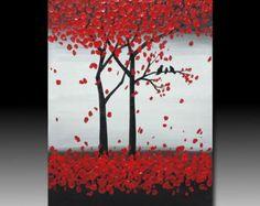 Original pintura acrílica con textura abstracta en por YueJinArt