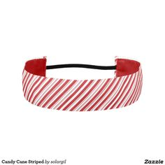 Candy Cane Striped Athletic Headbands