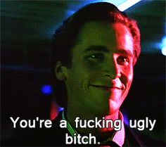 Patrick Bateman....yes this scene at work daily