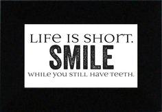 Life Is Short?Smile Textual Print Art