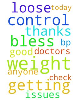 pray for me to loose weight it is getting out of control - pray for me to loose weight it is getting out of control thanks God Bless for anyone that is having weight issues pray for all them also and pray for my bp to be good when i get to the doctors today for my check up thanks God Bless  Posted at: https://prayerrequest.com/t/QRl #pray #prayer #request #prayerrequest