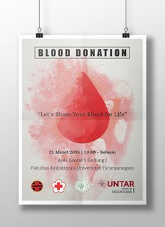 Poster made for a blood donation event at Universitas Tarumanegara, Jakarta