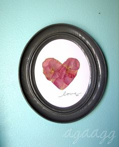 love -- from rose petals..awww, very sweet!