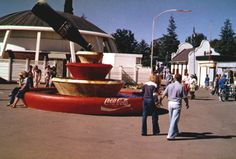 The Coke fountain in The Trade Fair grounds. Major meeting point.