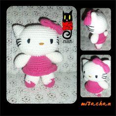 KITTY - Juguete Amigurumi - Aldea Hello Kitty, Crochet Hats, Fictional Characters, Amigurumi, Knitting Hats, Fantasy Characters