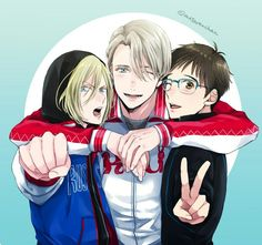 Victor, Yuri and Yurio | Yuri!!! On ice