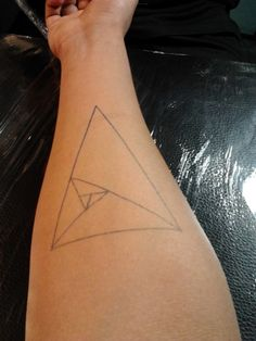 fibonacci triangle tattoo - Google Search