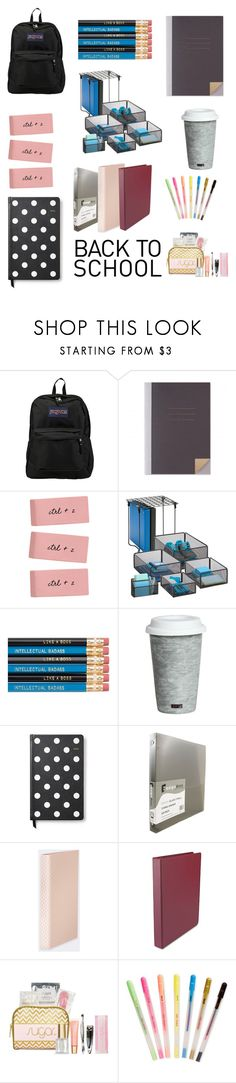 """""""Untitled #67"""" by felicitybriansdotter ❤ liked on Polyvore featuring JanSport, Honey-Can-Do, Fitz & Floyd, Kate Spade, ferm LIVING, Universal and ban.do"""