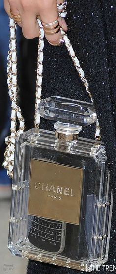Chanel purse. always loved those perfume bottles!