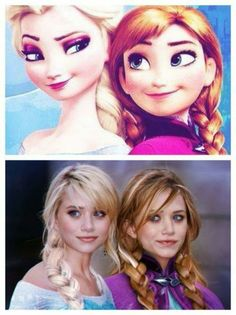 who didn't see this?  Mary Kate and Ashley Olsen ....basically Ana and Elsa from Frozen
