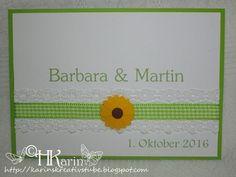 """Karins Kreativstube: Einladungen Hochzeit """"Barbara & Martin"""" Sonnenblum... Blog, Invites Wedding, Sunflowers, Cards, Creative, Blogging"""