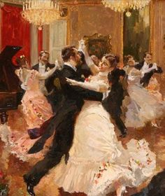 Cours de musique - Vladimir Pervukinsky by @ Waltz Dance, Dance Art, Russian Painting, Russian Art, Art And Illustration, Vintage Dance, Victorian Art, Beautiful Paintings, Les Oeuvres