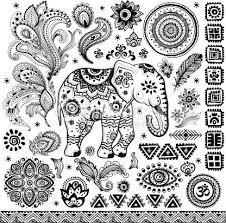 Resultado de imagen para dibujo elefante hindu