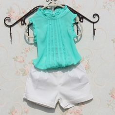Fashion 2017 Pure Color Summer Baby Teenage Big Girls Blouse Shirts For Kids Child Chiffon Sleeveless School Girl Tops Boys And Girls Clothes, Kids Girls, Children Clothes, Kids Clothing, Toddler Fashion, Kids Fashion, Fashion 2017, White Flower Girl Dresses, Girls Blouse