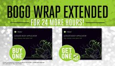 Have You Tried That Crazy Wrap Thing? Right now for 24 hours we are offering BOGO on our wraps! $59 for 8 wraps!! Hurry now before time runs out!