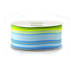 Rainbow Striped Grosgrain Ribbon, 1-1/2-inch, 25-yard