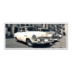 JP London PAN5152 uStrip Vintage Classic Cars in Old Havana High Resolution Peel and Stick Removable Wall Mural