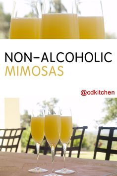 Skip the fake Champagne, ginger ale is the key ingredient that makes these alcohol-free mimosas taste like the real deal.   CDKitchen.com