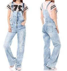 NEU weite Damen Latzhose Jeans Hose Relaxed Boyfriend 38 40 42  M L XL Overall