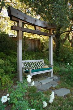 Decorative traditional garden swings