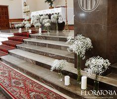 dekoracja kościoła gipsówka #wedding  #weddingideas  #Gypsophila