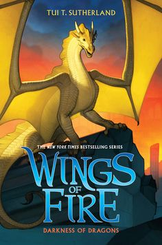 Wings of Fire Darkness of Dragons by Tui T.The new prophecy comes to a thrilling conclusion in the New York Times bestselling Wings of Fire series! Wings Of Fire Quiz, Wings Of Fire Dragons, New Books, Good Books, Children's Books, Reading Books, Fiction Books, Comic Books, Fire Book
