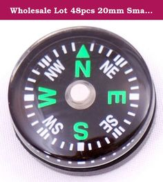 Wholesale Lot 48pcs 20mm Small Mini Compasses for survival kit. 4 dozen (48pcs) new liquid filled mini button compasses. These well-made mini compasses are perfect for use in compact, mini, or pocket survival kits. Or put them onto your walking stick, knife, binoculars, backpack, etc. OD size: 20mm (approximately size of a penny) Liquid filled, works under sub-freezing temperatures. Easy to read compass dial sealed with clear acrylic top and black plastic base Grooved edge for easy…