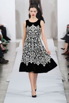 Oscar de la Renta Fall 2013. Love classy elegant look of this dress. Color and cut.