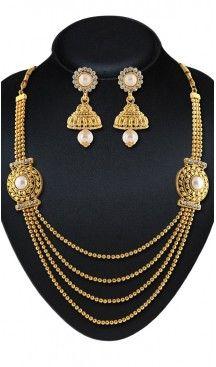 Women's Gold Color Moti Work Artificial Fancy Necklaces Set | FH532480453 Follow us @heenastyle  #Necklace #onlineshopping #necklaceset #forsale #gold #artificial #goldplated #designs #fashion #jewelry #fashionjewellry #accessories #womenfashion #pendentset #earing #jumkis #bangle #bracelets #mangalsutra #tikka #headpieces #handbags #cluethesbeg #ring #indianfashion #fashionista #anklets #bridelset #weddingset #dimondset #brass #metal #heenastylenecless #heenastyle