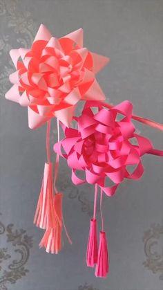 Paper Flowers Craft, Paper Crafts Origami, Paper Crafts For Kids, Flower Crafts, Diy Paper, Flower Oragami, Paper Oragami, Origami Flowers Tutorial, Tissue Paper Crafts