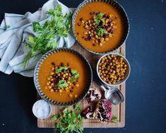 Vanløse blues.....: Marokkansk buttternutsquash suppe med spicy kikærter