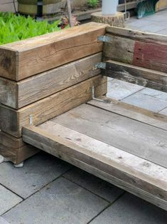 How to Build My Restoration Hardware Sectional. - How to Build My Restoration Hardware Sectional. How to build a Restoration Hardware outdoor sectional sofa from The Art of Doing Stuff. Woodworking Outdoor Furniture, Diy Garden Furniture, Rustic Furniture, Furniture Ideas, Furniture Design, Barbie Furniture, Woodworking Projects, Furniture Hardware, Modern Furniture