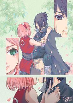 Sasuke x Sakura Naruto Shippuden Sasuke, Anime Naruto, Naruto Sasuke Sakura, Otaku Anime, Manga Anime, Sakura And Sasuke Kiss, Sakura Haruno, Naruhina, Manga Comics