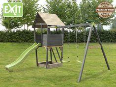 Kinder-Spielturm EXIT «Aksent» Spielturm Holzspielhaus mit Rutsche, Sandkasten | Kaufen im Holz-Haus.de Online-Shop