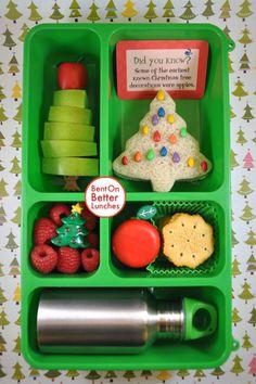 BentOnBetterLunches: Jolly Holiday Hop - Go Green Trees